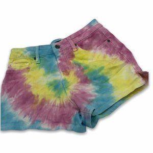 Blackheart 5 Tie Dye Denim Shorts Pastel Hot Topic
